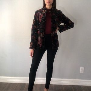 70s/80s floral quilted blazer